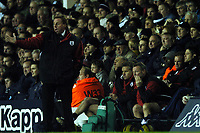 Photo: Javier Garcia/Back Page Images<br />Tottenham Hotspur v Southampton, FA Barclays Premiership, White Hart Lane 18/12/04<br />James Beattie looks glumly on from the bench as Harry Redknapp tries to inspire his team