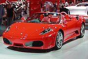 Red Ferrari at Melbourne International Motor Show <br /> <br /> Editions:- Open Edition Print / Stock Image