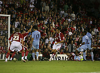 Photo: Rich Eaton.<br /> <br /> Bristol City v Manchester City. Carling Cup. 29/08/2007. Bristol City's Bradley Orr  #2 scores in the seccond half to make the score 1-1.