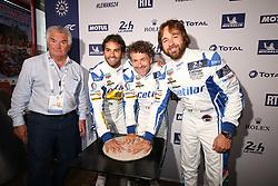 June 11, 2018 - Le Mans, FRANCE - 47 CETILAR VILLORBA CORSE (ITA) DALLARA P217 GIBSON ROBERTO LACORTE (ITA) GIORGIO SERNAGIOTTO (ITA) LUIZ FELIPE NASR  (Credit Image: © Panoramic via ZUMA Press)