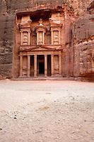 The temple or treasury in Petra, Jordan.
