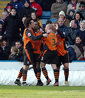 Photo: Kevin Poolman.<br />Crystal Palace v Ipswich Town. Coca Cola Championship. 18/03/2006. Ipswich players celebrate Ricardo Fuller's goal and their second.