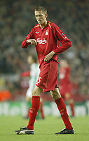 Photo: Aidan Ellis.<br /> Liverpool v Real Betis. UEFA Champions League.<br /> 23/11/2005.<br /> Liverpool's  Peter Crouch