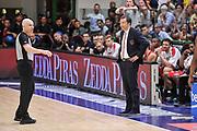 DESCRIZIONE : Campionato 2014/15 Dinamo Banco di Sardegna Sassari - Olimpia EA7 Emporio Armani Milano Playoff Semifinale Gara3<br /> GIOCATORE : Luca Banchi Paolo Taurino<br /> CATEGORIA : Fair Play<br /> SQUADRA : Olimpia EA7 Emporio Armani Milano<br /> EVENTO : LegaBasket Serie A Beko 2014/2015 Playoff Semifinale Gara3<br /> GARA : Dinamo Banco di Sardegna Sassari - Olimpia EA7 Emporio Armani Milano Gara4<br /> DATA : 02/06/2015<br /> SPORT : Pallacanestro <br /> AUTORE : Agenzia Ciamillo-Castoria/L.Canu