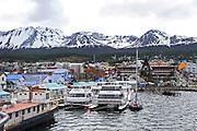 Ships in harbour, Ushuaia, Tierra del Fuego, Argentina