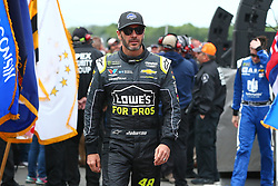 June 3, 2018 - Long Pond, PA, U.S. - LONG POND, PA - JUNE 03:  Jimmie Johnson (48) in the Lowe's for Pros Chevrolet walks out during driver introductions prior to the Monster Energy NASCAR Cup Series - Pocono 400 on June 3, 2018 at Pocono Raceway in Long Pond, PA.  (Photo by Rich Graessle/Icon Sportswire) (Credit Image: © Rich Graessle/Icon SMI via ZUMA Press)