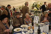 Lady Plymouth and Mrs. William Grizel. Ludlow Charity Race Day,  in aid of Action Medical Research. Ludlow racecourse. 24 march 2005. ONE TIME USE ONLY - DO NOT ARCHIVE  © Copyright Photograph by Dafydd Jones 66 Stockwell Park Rd. London SW9 0DA Tel 020 7733 0108 www.dafjones.com