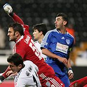 Gaziantepspor goalkeeper Onur Bulut (C) during their Turkey Cup matchday 3 soccer match Besiktas between Gaziantepspor BSB at the Inonu stadium in Istanbul Turkey on Wednesday 11 January 2012. Photo by TURKPIX