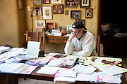 Organizing my Mom's financial papers at home in California after visiting her at her independent living apartment in Scottsdale, Arizona
