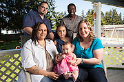 Larry and Jodi Dillworth donated an embryo to Rachel and Diony Victorin, rsulting in the birth of their daughter Esther.  Also seen in these photographs is Bobbi Dillworth.  Photographed at the Dillworth residence near Tacoma, WA for People Magazine