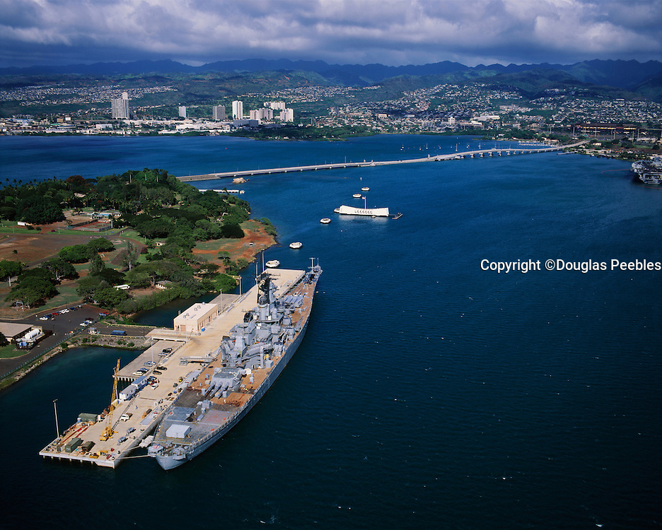 USS Missouri and Arizona, Pearl Harbor, Honolulu, Hawaii