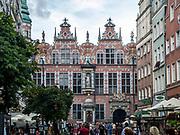Gdańsk, (woj. pomorskie) 16.08.2014. Wielka Zbrojownia, nazywana też arsenałem - fasada od strony ulicy Piwnej.