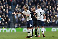 Football - 2019 / 2020 Premier League - Tottenham Hotspur vs. Wolverhampton Wanderers<br /> <br /> Harry Winks (Tottenham FC)  complains to the linesman  at the Tottenham Hotspur Stadium.<br /> <br /> COLORSPORT/DANIEL BEARHAM