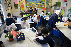 A lesson taking place at the Nottingham Islamia school,