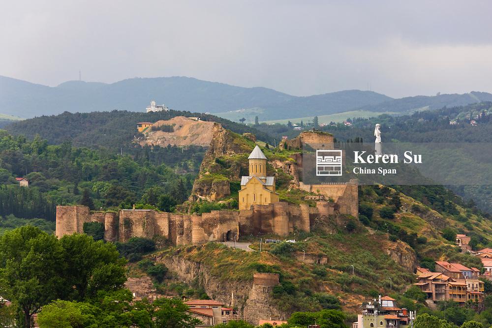 Narikala Fortress on the hill, Tbilisi, Georgia