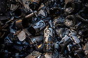 Shattered wine bottles lay in the remnants of the Fairwinds Estate Winery in Calistoga on Oct. 12, 2020.