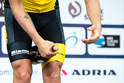 Primoz Roglic of Team Lotto NL Jumbo celebrates during trophy ceremony after 5th Time Trial Stage of 25th Tour de Slovenie 2018 cycling race between Trebnje and Novo mesto (25,5 km), on June 17, 2018 in  Slovenia. Photo by Matic Klansek Velej / Sportida