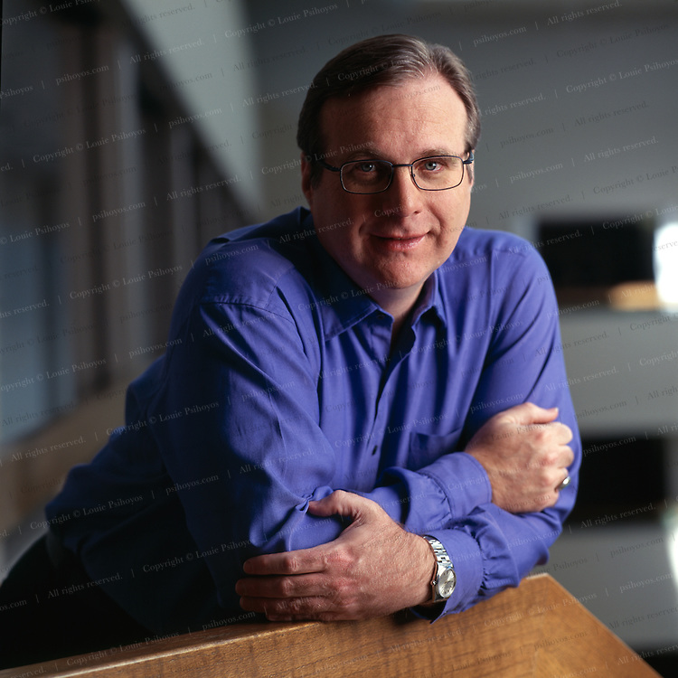 Paul Allen, co-founder of Microsoft and billionaire.  Photographed at Vulcan Ventures in Washington State.