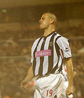 Photo. Glyn Thomas, Digitalsport<br /> West Bromwich Albion v Blackburn Rovers. <br /> Barclays Premiership. 26/04/2005.<br /> West Brom's Neil Clement cannot believe he has missed a chance to score a goal.