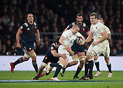 Twickenham, United Kingdom.  Mike BROWN, driving though, during the    RBS. Six Nations : England   vs France  at the  RFU Stadium, Twickenham, England, <br /> <br /> Saturday  04/02/2017<br /> <br /> [Mandatory Credit; Peter Spurrier/Intersport-images]
