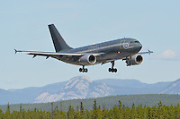 RCAF Airbus A310 on short final into Whitehorse International Airport.
