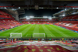 LIVERPOOL, ENGLAND - Tuesday, October 27, 2020: A general view of Anfield from the Spion Kop before the UEFA Champions League Group D match between Liverpool FC and FC Midtjylland at Anfield. Liverpool won 2-0. (Pic by David Rawcliffe/Propaganda)