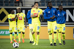 May 4, 2018 - Gent, BELGIUM - Gent's players looks dejected after the Jupiler Pro League match between KAA Gent and Sporting Charleroi, in Gent, Friday 04 May 2018, on day seven (out of 10) of the Play-Off 1 of the Belgian soccer championship. BELGA PHOTO JASPER JACOBS (Credit Image: © Jasper Jacobs/Belga via ZUMA Press)
