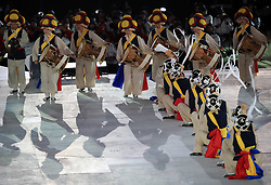 Performers during the Closing Ceremony for the PyeongChang 2018 Winter Paralympics in South Korea.