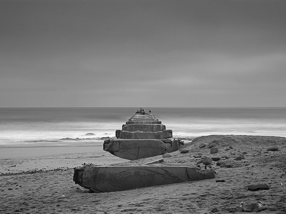 Toscanini.<br /> Abandoned diamond mine on the Skeleton Coast, Namibia.