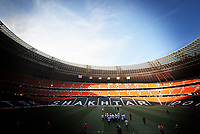 Football - Euro 2012 - England Training<br /> The England team walk out onto the pitch of the Donbass Arena instead of their scheduled training session at the ground.