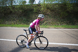 Anna van der Breggen (NED) of Boels-Dolmans Cycling Team rides out of Houffalize during Liege-Bastogne-Liege - a 136 km road race, between Bastogne and Ans on April 22, 2018, in Wallonia, Belgium. (Photo by Balint Hamvas/Velofocus.com)