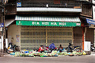 Street merchants lay out their produce offerings on the sidewalk at this street corner in Hanoi. Much of the produce from farms makes it way to street vendors like this one. Robert Dodge, a Washington DC photographer and writer, has been working on his Vietnam 40 Years Later project since 2005. The project has taken him throughout Vietnam, including Hanoi, Ho Chi Minh City (Saigon), Nha Trang, Mue Nie, Phan Thiet, the Mekong, Sapa, Ninh Binh and the Perfume Pagoda. His images capture scenes and people from women in conical hats planting rice along the Red River in the north to men and women working in the floating markets on the Mekong River and its tributaries. Robert's project also captures the traditions of ancient Asia in the rural markets, Buddhist Monasteries and the celebrations around Tet, the Lunar New Year. Also to be found are images of the emerging modern Vietnam, such as young people eating and drinking and embracing the fashions and music of the West. His book. Vietnam 40 Years Later, was published March 2014 by Damiani Editore of Italy.