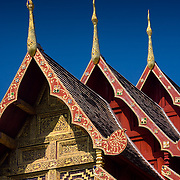 Detail of Wat Phra Singh temple roofline (Chiang Mai, Thailand - Dec. 2008) (Image ID: 081204-1303171a)