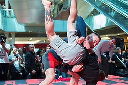 October 25, 2017 - Sao Paulo, Sao Paulo, Brazil - COLBY COVINGTON, during an open practice session to the UFC Fight Night in Sao Paulo, Brazil. (Credit Image: © Paulo Lopes via ZUMA Wire)