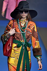 Model Liza Shubarina walks on the runway during the Gucci Fashion Show during Milan Fashion Week Spring Summer 2018 held in Milan, Italy on September 20, 2017. (Photo by Jonas Gustavsson/Sipa USA)