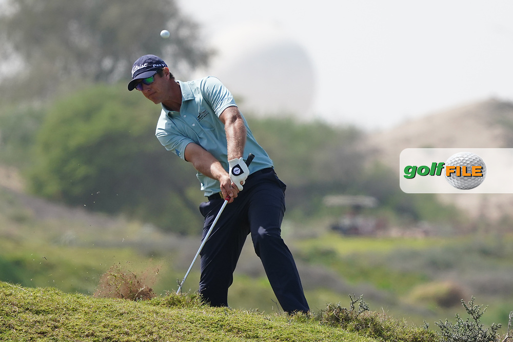 Nicolas Colsaerts (BEL) on the 9th during Round 3 of the Oman Open 2020 at the Al Mouj Golf Club, Muscat, Oman . 29/02/2020<br /> Picture: Golffile | Thos Caffrey<br /> <br /> <br /> All photo usage must carry mandatory copyright credit (© Golffile | Thos Caffrey)