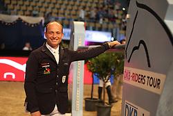 Jung Michael, (GER)<br /> DKB-Riders Tour<br /> Grand Prix Kreditbank Jumping München 2015<br /> © Hippo Foto - Stefan Lafrentz