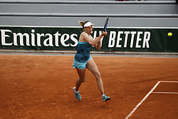 May 22, 2019 - Paris, France - Myrtille Georges of France in action during the first qualifications round of Roland Garros against Whitney Osugwe of USA, on 22 May 2019 in Paris, France, (Credit Image: © Ibrahim Ezzat/NurPhoto via ZUMA Press)