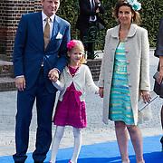 NLD/Apeldoorn/20130105 - Huwelijk prins Jaime en prinses Viktoria Cservenyak, Pieter - Christiaan en partner Anita van Eijk en dochter Emma