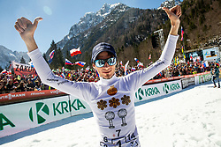 Retired Robert Kranjec of Slovenia celebrates after the trophy ceremony after the Ski Flying Hill Team Competition at Day 3 of FIS Ski Jumping World Cup Final 2019, on March 23, 2019 in Planica, Slovenia. Photo by Vid Ponikvar / Sportida