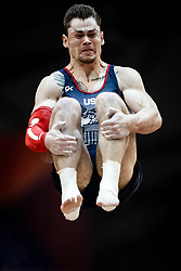 October 29, 2018 - Doha, Qatar - Colin Van Wicklen of  United States   during  Vault, Team final for Men at the Aspire Dome in Doha, Qatar, Artistic FIG Gymnastics World Championships on October 29, 2018. (Credit Image: © Ulrik Pedersen/NurPhoto via ZUMA Press)