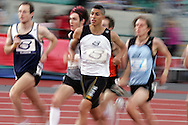 Super 8 athletics at the Cardiff International Stadium on Wed 10th June 2009. competitors running in the men's 1500m race.