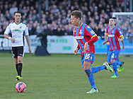 Crystal Palace Dwight Gayle on the ball during the The FA Cup Third Round match between Dover Athletic and Crystal Palace at Crabble Athletic Ground, Dover, United Kingdom on 4 January 2015. Photo by Phil Duncan.