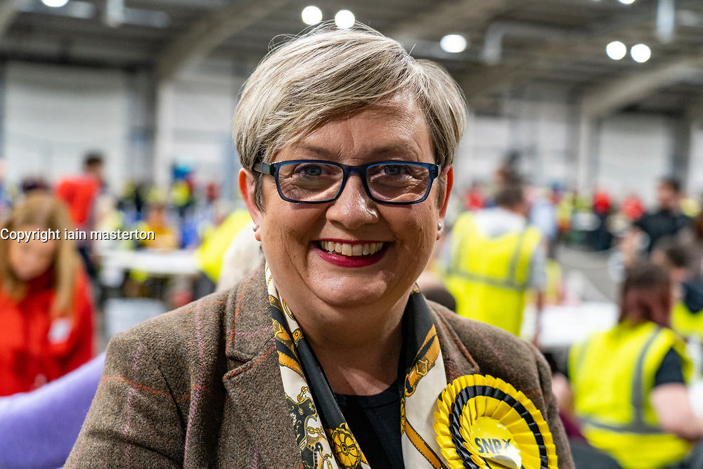 Edinburgh, Scotland, UK. 12th December 2019. Joanna Cherry MP at Parliamentary General Election Count at the Royal Highland Centre in Edinburgh. Iain Masterton/Alamy Live News