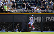 CHICAGO - AUGUST 28:  Avisail Garcia #26 of the Chicago White Sox leaps but cannot catch the ball hit by Kyle Seager #15 of the Seattle Mariners in the second inning on August  28, 2016 at U.S. Cellular Field in Chicago, Illinois.  The White Sox defeated the Mariners 4-1.  (Photo by Ron Vesely/MLB Photos via Getty Images)  *** Local Caption *** Avisail Garcia; Kyle Seager