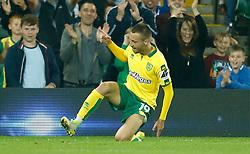 Norwich City's Tom Trybull celebrates scoring their fourth goal