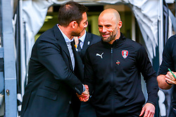 Derby County manager Frank Lampard and Rotherham United manager Paul Warne shake hands - Mandatory by-line: Ryan Crockett/JMP - 30/03/2019 - FOOTBALL - Pride Park Stadium - Derby, England - Derby County v Rotherham United - Sky Bet Championship