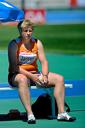 27-07-2010 ATLETIEK: EUROPEAN ATHLETICS CHAMPIONSHIPS: BARCELONA  Discuswerpster Monique Jansen heeft dinsdag haar debuut op een internationaal titeltoernooi gevierd met een finaleplaats<br /> ©2010-WWW.FOTOHOOGENDOORN.NL