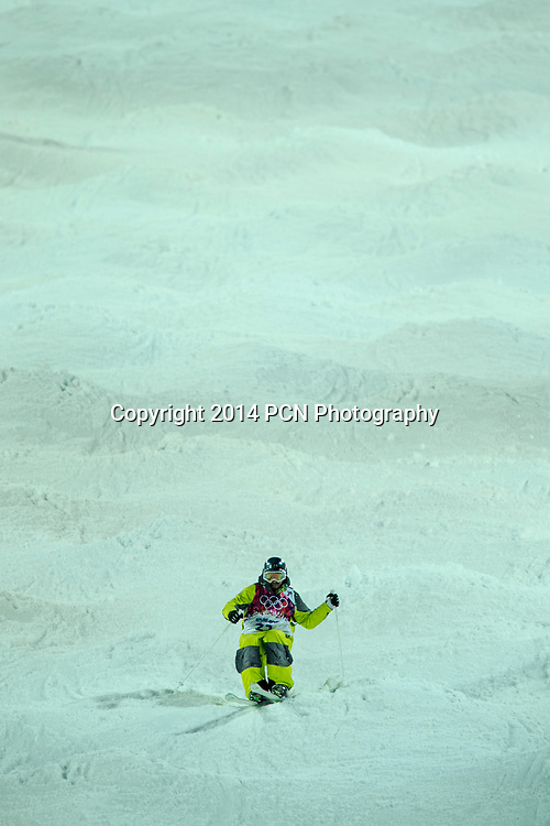 Dmitriy Barmashov (KAZ) freestyle skier competing in Men's Moguls at the Olympic Winter Games, Sochi 2014