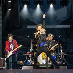 The Rolling Stones on stage at Murrayfield Stadium, Edinburgh 9/6/2018